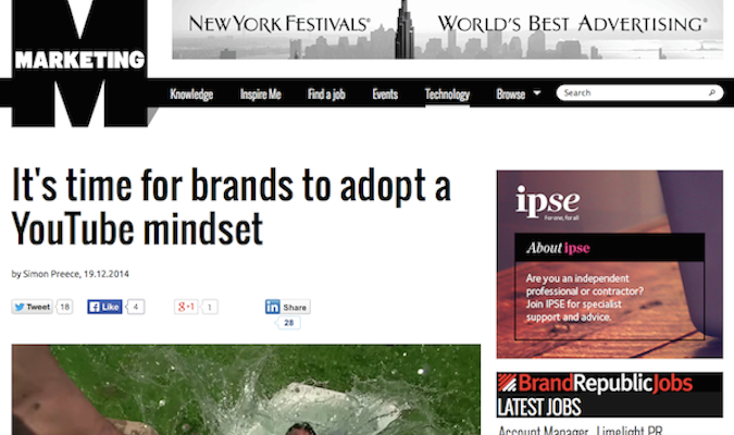 It's time for brands to adopt a YouTubemindset