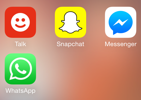 Keeping in touch with social messagingapps