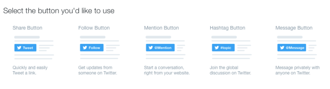 Twitter embed options